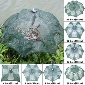 4-20 Holes Fishing Net Folded Portable Hexagon Fish Network Casting Nets Crayfish Shrimp Catcher Tank Trap Cages Mesh Cheap(China)