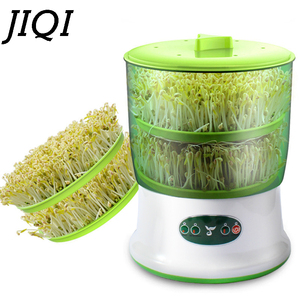 Image 1 - 110V/220V Bean Sprouts Maker Thermostat Green Vegetable Seedling Growth Bucket Automatic Electric Sprout Bud Germinator Machine
