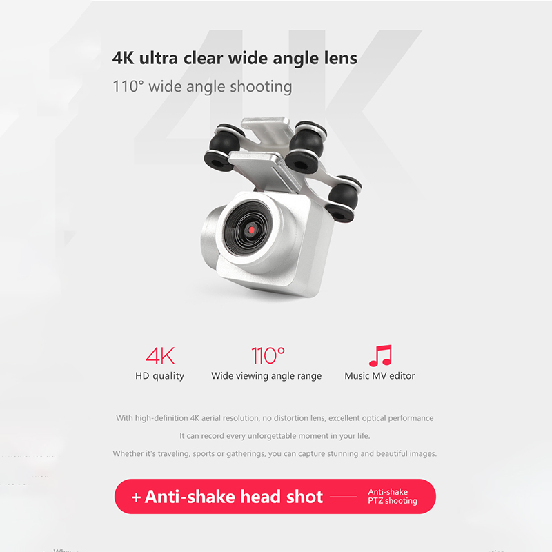 Professional WIFI Drone With Camera HD 4K Live Video FPV Dron Attitude Hold Optical Flow Positioning RC Helicopter Quadrocopter