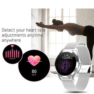 Image 4 - IP68กันน้ำสมาร์ทนาฬิกาผู้หญิงน่ารักสร้อยข้อมือHeart Rate Monitor Sleep Smartwatchเชื่อมต่อIOS Android KW10 Band