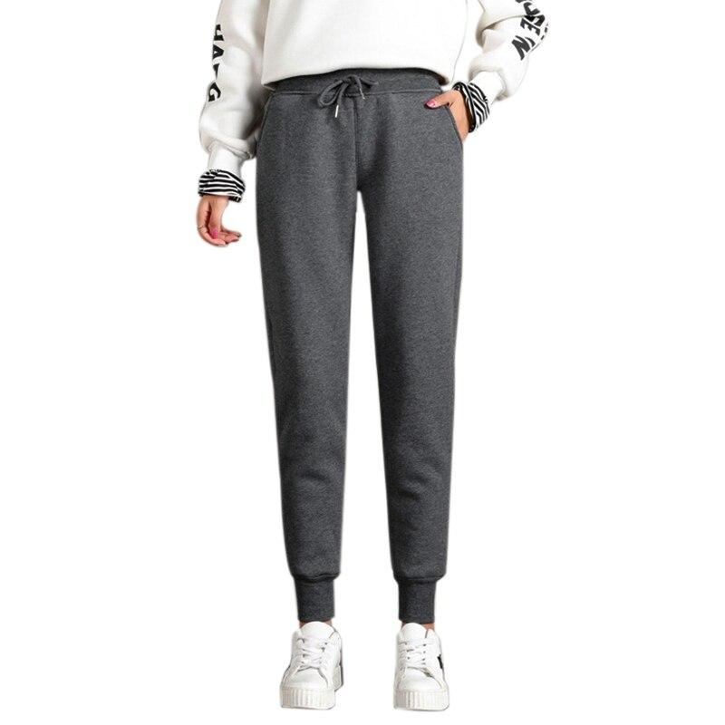 Women'S Warm Jogging Track Pants Casual Warm Trousers Imitation Cashmere Plus Velvet Thick Sweat Pants