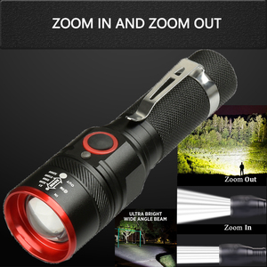 Image 4 - Waterproof 5200LM USB Rechargeable Flash light XML T6 Led Flashlight Zoomable 3 modes torch for 18650 with USB cable Camping z40