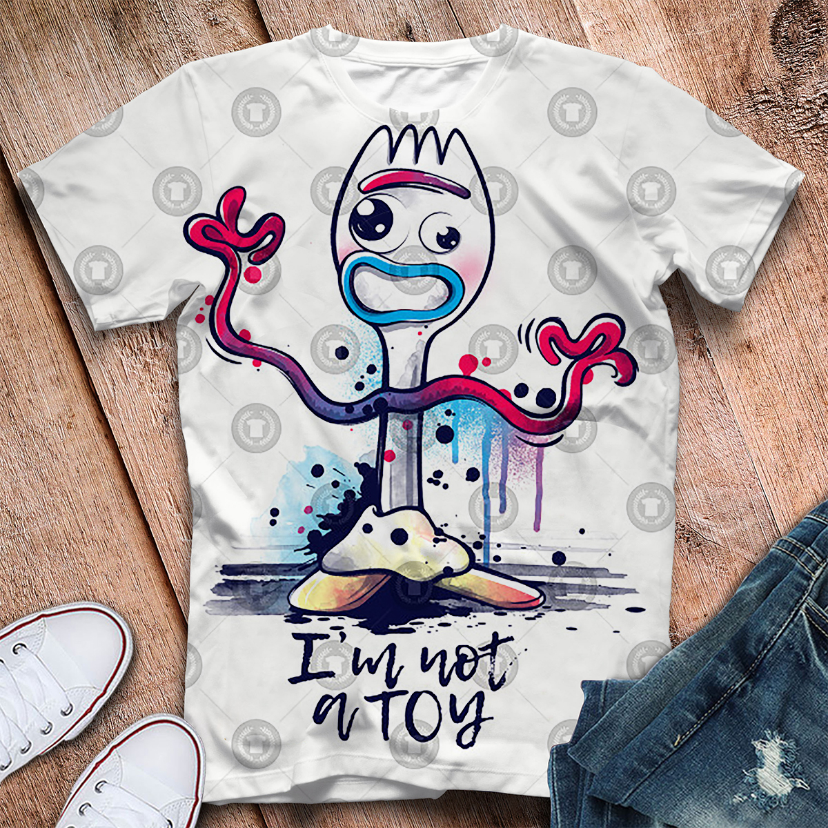 2019 Forky New Toy Story 4 The Walking Toys 3d Printed T Shirt Men's Short Sleeve Cute T Shirt Drop Shipping