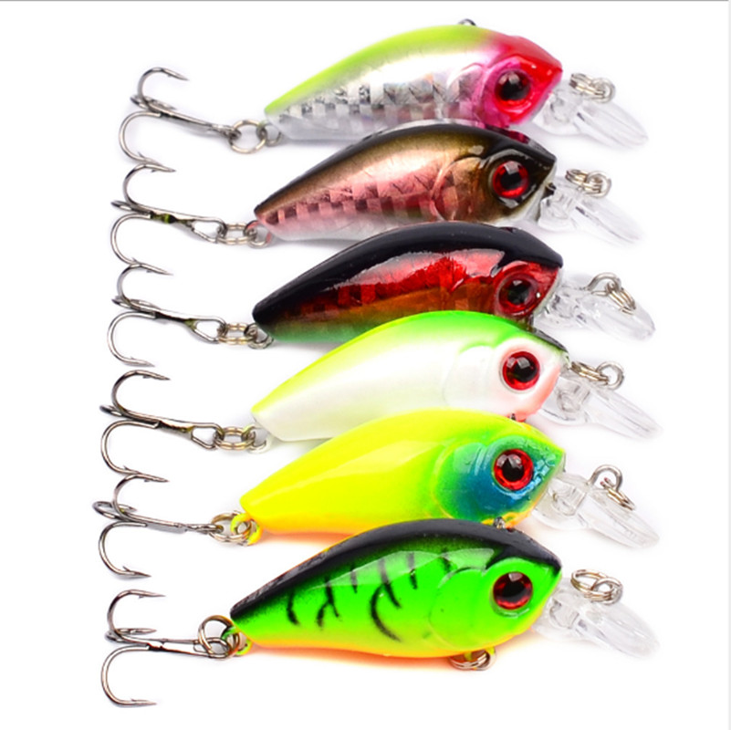 4.5cm 4.2g Crankbait Fishing Lure Artificial Crank Hard Bait Topwater Minnow Fishing Wobblers Fish Lures lure
