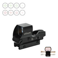 Ohhunt Tactical Hunting 1X22 4 Style Reticle Reflective Red Green Dot Sight Scope Parallax Free Picatinny Mount Free Shipping