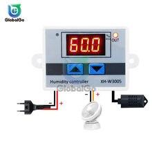 XH-W3005 w3005 220v 12v 24v controlador de umidade digital humidistat higrômetro sensor regulador interruptor controle umidade