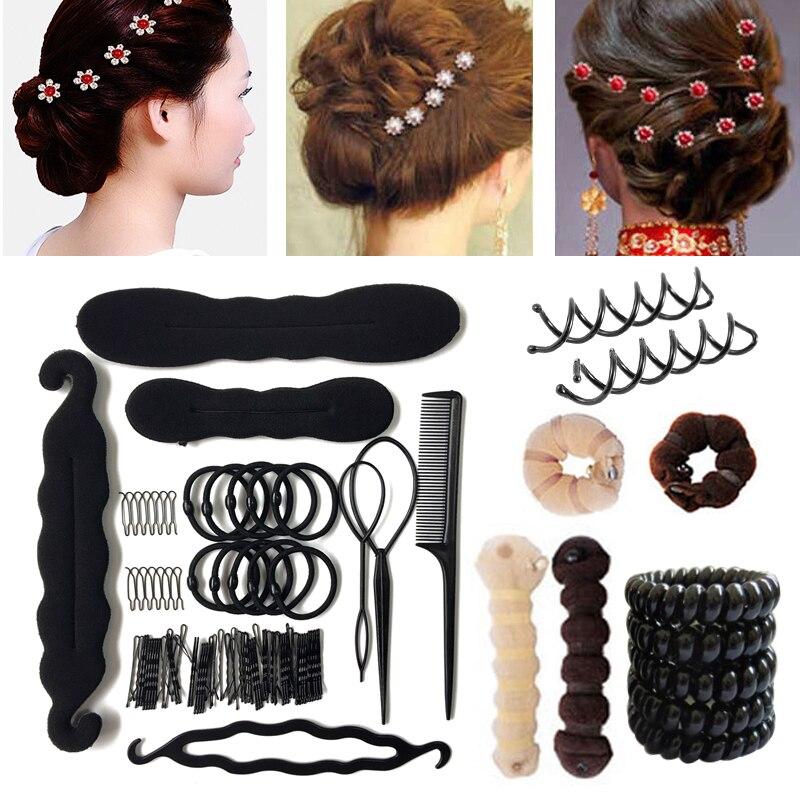 Hair Accessories Women Multi style Hair Twist Styling Clip Stick Bun Maker Hairpins Hair Clip DIY Braiding Tools Hairdressing|Braiders| - AliExpress