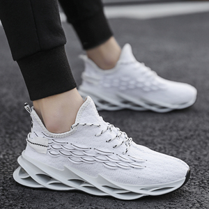 Image 4 - Fashionable plus size mens sports shoes light and breathable ladies running shoes high quality casual shoes mesh sports shoes
