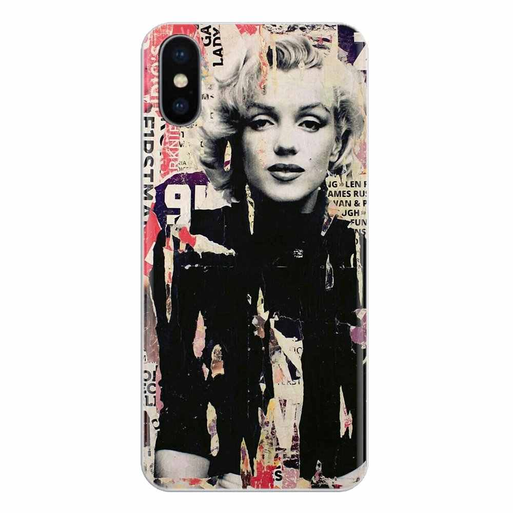 Caso de telefone celular capa para ipod touch para apple iphone 11 pro 4 4S 5 5S se 5c 6 s 7 8 x xr xs plus max sexy mulher marilyn monroe
