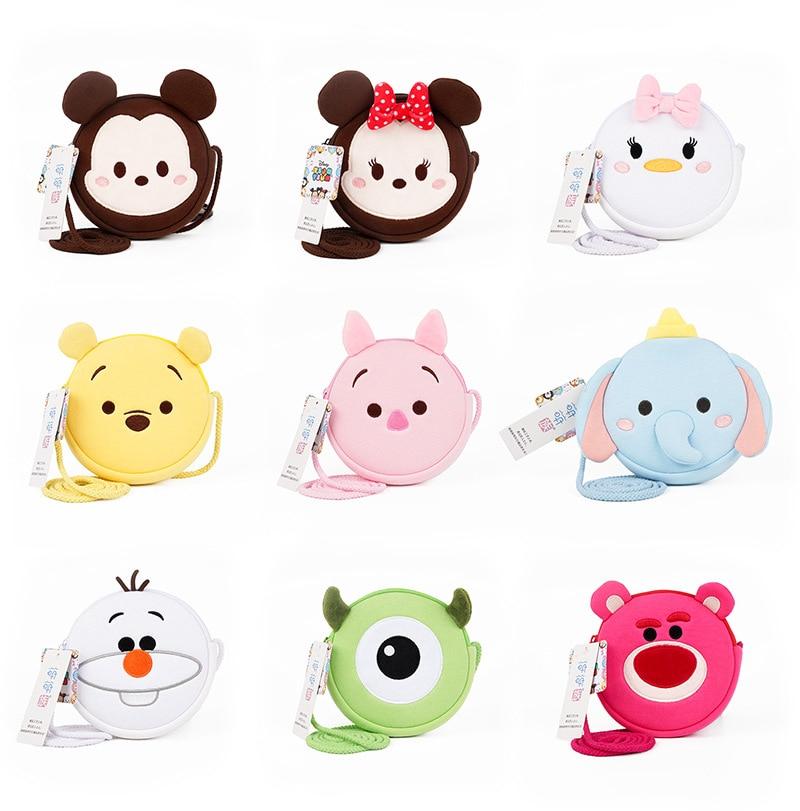 Genuine Disney Plush Bag Mini Mickey Minnie Animal Wallet Money Toys Kids Phone Bag Dolls Girls Boys Children's Birthday Gifts