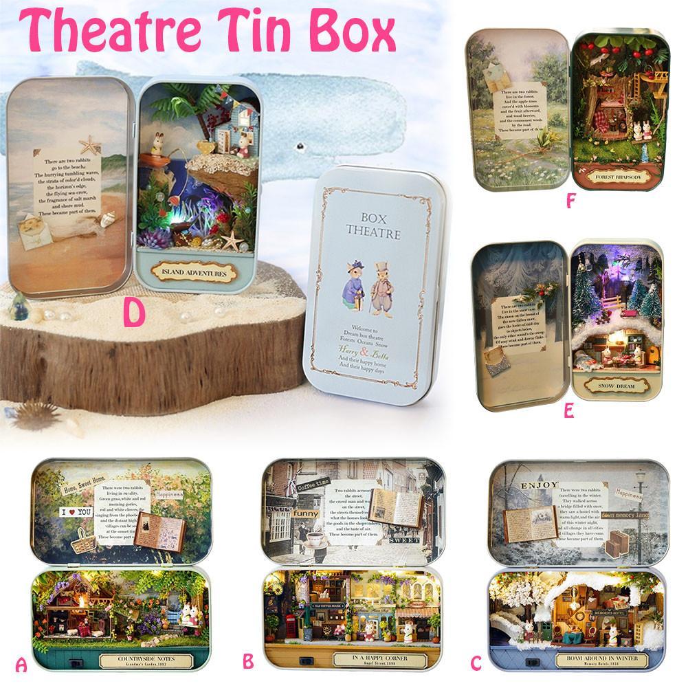 Коробка театральный кукольный домик ручной работы деревянные маленькие головоломки для подарка на день рождения