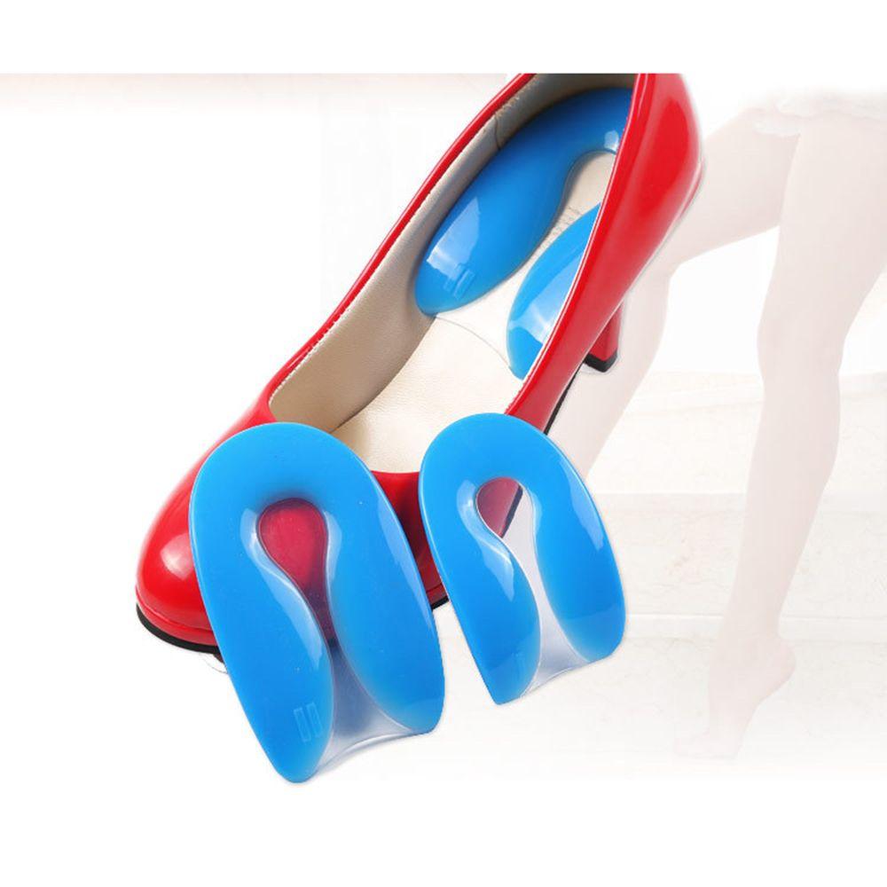 2019 New Silicone Gel  U-Shape Plantar Fasciitis Heel Protector Heel Cushion Pad Shoe Inserts Insole Foot Care For Men Women