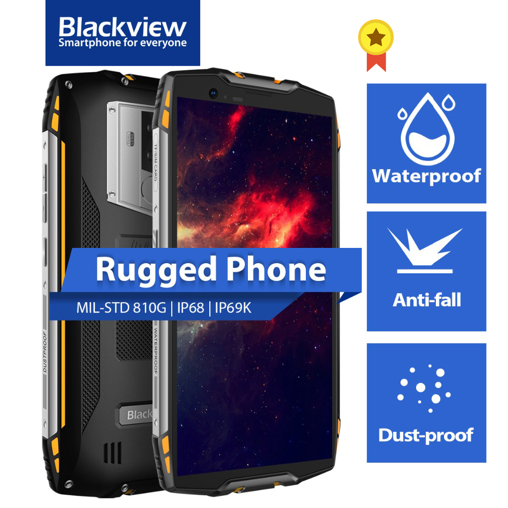 Blackview MT6750T BV6800 IP68/IP69K Rugged 64GB LTE/WCDMA/GSM NFC Adaptive Fast Charge