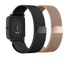 Metal Milanese Loop Band for Xiaomi Huami AMAZFIT Stratos 2 2s Pace strap 22MM wristband for Amazfit GTR 47 Stainless Steel belt metal milanese loop band for xiaomi huami amazfit bip strap 20mm 22mm wrist band for amazfit gtr 47 47mm strap stratos 2 2s pace