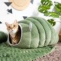 3 вида стилей складная кровать для кошек  зимний плюшевый домик для домашних собак  питомник  коврик для маленьких собак  теплый спальный меш...