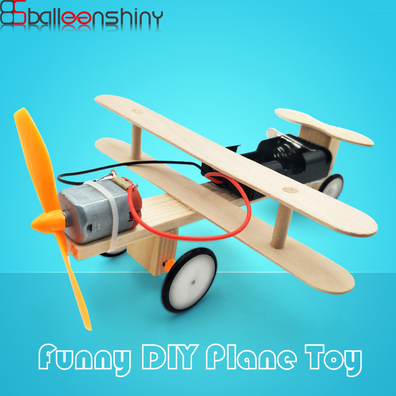 BalleenShiny DIY 3D Puzzle Model Plane Kids Toys Assembled Building Block Baby Early Educational Toy Child Gift Home Decor