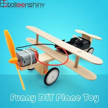 BalleenShiny DIY 3D rompecabezas modelo avión niños juguetes ensamblados bloque de construcción bebé juguete educativo temprano regalo para niños decoración del hogar