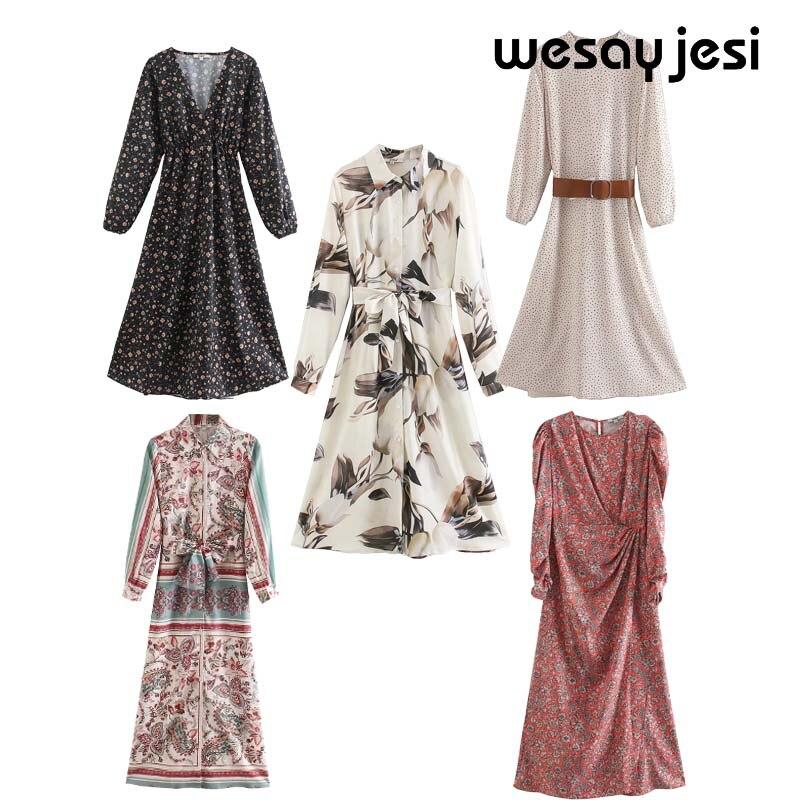 Женское платье трапециевидной формы в английском винтажном стиле, весна-лето 2020