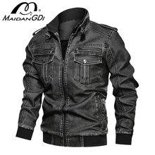 Hommes vestes 2020 hiver nouvelle moto vestes en cuir synthétique polyuréthane militaire pilote Bomber veste tactique mâle automne Vintage manteaux