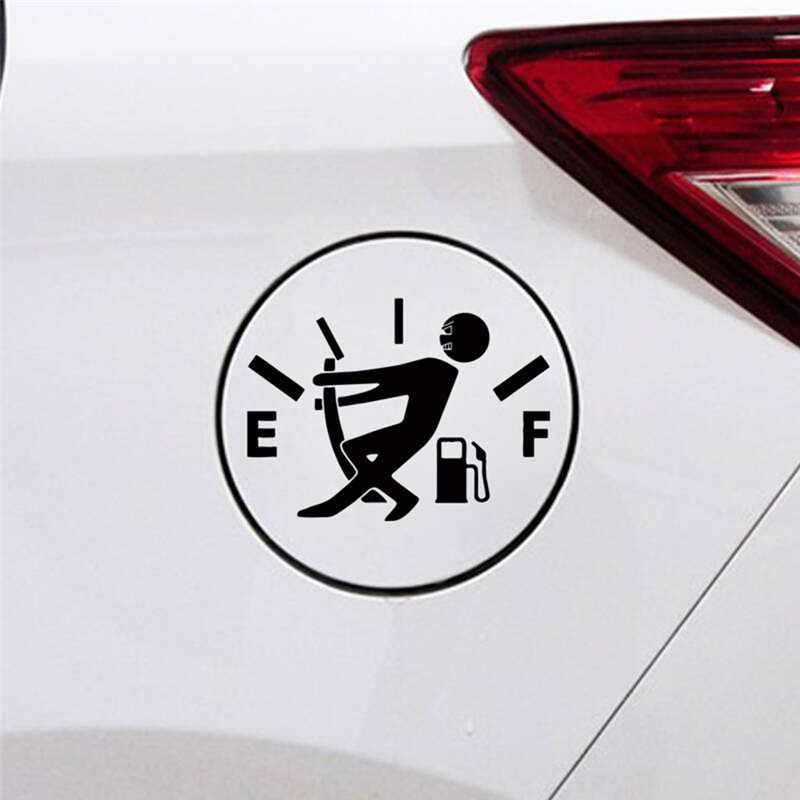 Livraison directe universel Pull réservoir de carburant voiture autocollant créatif réfléchissant vinyle moto drôle voiture accessoires intérieur décalcomanie
