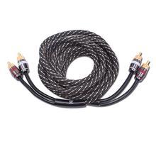 Przewód Audio samochodu przewód Audio z czystej miedzi wzmacniacz sygnału kabel Audio akcesoria samochodowe tanie tanio LumiParty Przewód sygnałowy