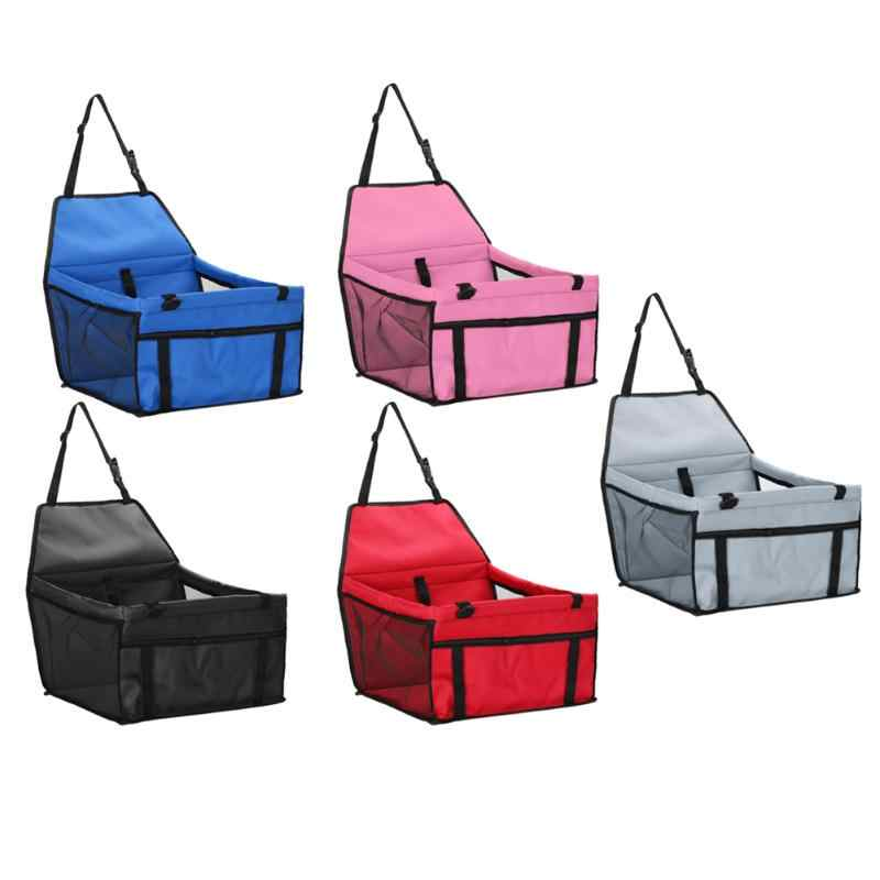 Foldable Kennel Puppy Pet Dog Cat Car Seat Safe Travel Carrier Folding Handbag Breathable Mesh Sided Bag Inner Traction Rope
