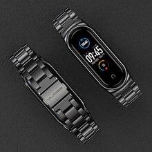 Band Voor Mi Band 5 Nfc Global Versie Armband Voor Xiaomi Mi Band 4 Polsbandjes Metalen Polsband Voor Mi band 3 Rvs