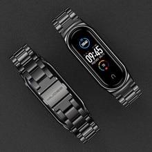 רצועת עבור Mi Band 5 NFC הגלובלי גרסה צמיד לxiaomi Mi Band 4 Wristbands מתכת רצועת יד עבור Mi להקת 3 נירוסטה