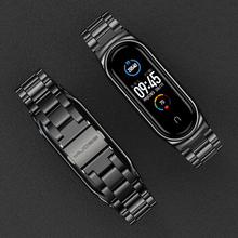 Strap for Mi Band 5 NFC Global Version Bracelet for Xiaomi Mi Band 4 Wristbands Metal Wrist Strap for Mi Band 3 Stainless Steel