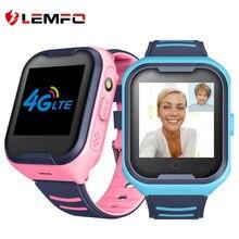 LEMFO-reloj inteligente G4H 4G para niños, dispositivo con GPS, Wifi, tarjeta SIM, cámara, videollamada, resistente al agua, para bebés y Android IOS