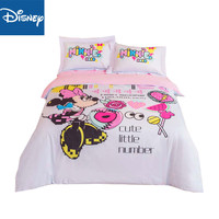 Minnie mouse bedding set cartoon for girls bedroom decoration queen size comforter covers single bedspread 3 5 pcs free shipping