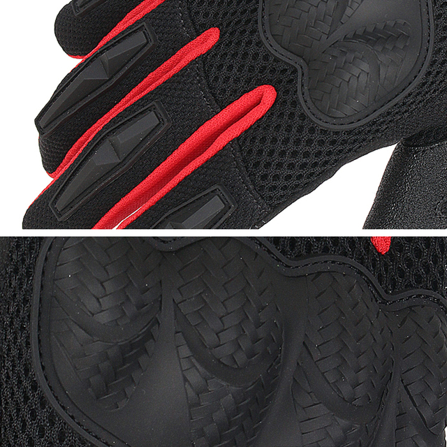 SCOYCO Motorcycle Gloves Summer Breathable Mesh Moto Gloves Touch Function Motorbike Gloves Motocross Off-Road Racing Gloves 4