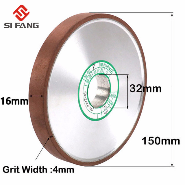 150mm 150Grit parallel Diamond Grinding Wheel Grinder Disc for Mill Sharpening Tungsten Steel Carbide Rotary Abrasive Tools