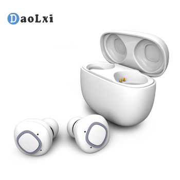 DaoLxi Wireless Headphones Bluetooth 4.2 Wireless Earbuds Charging Compartment Power Bank Sports Headphones Charging Box