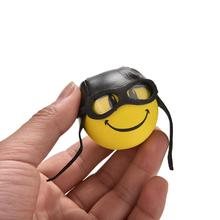 1Pc Car Styling Roof Ornament Yellow Little Cute Funny Cartoon Doll Antenna Balls Plush EVA Foam Aerial Toppers Decoration