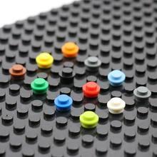 Детали для конструктора MOC 4073 6141, круглые пластины 1x1, модель лампы, обучающие игрушки для детей, 200 шт.