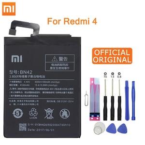 Image 1 - Xiao Mi Original Phone Battery BN42 For Xiaomi Redmi Hongmi 4 Original Replacement Batteries High Capacity 4000mAh Free Tools