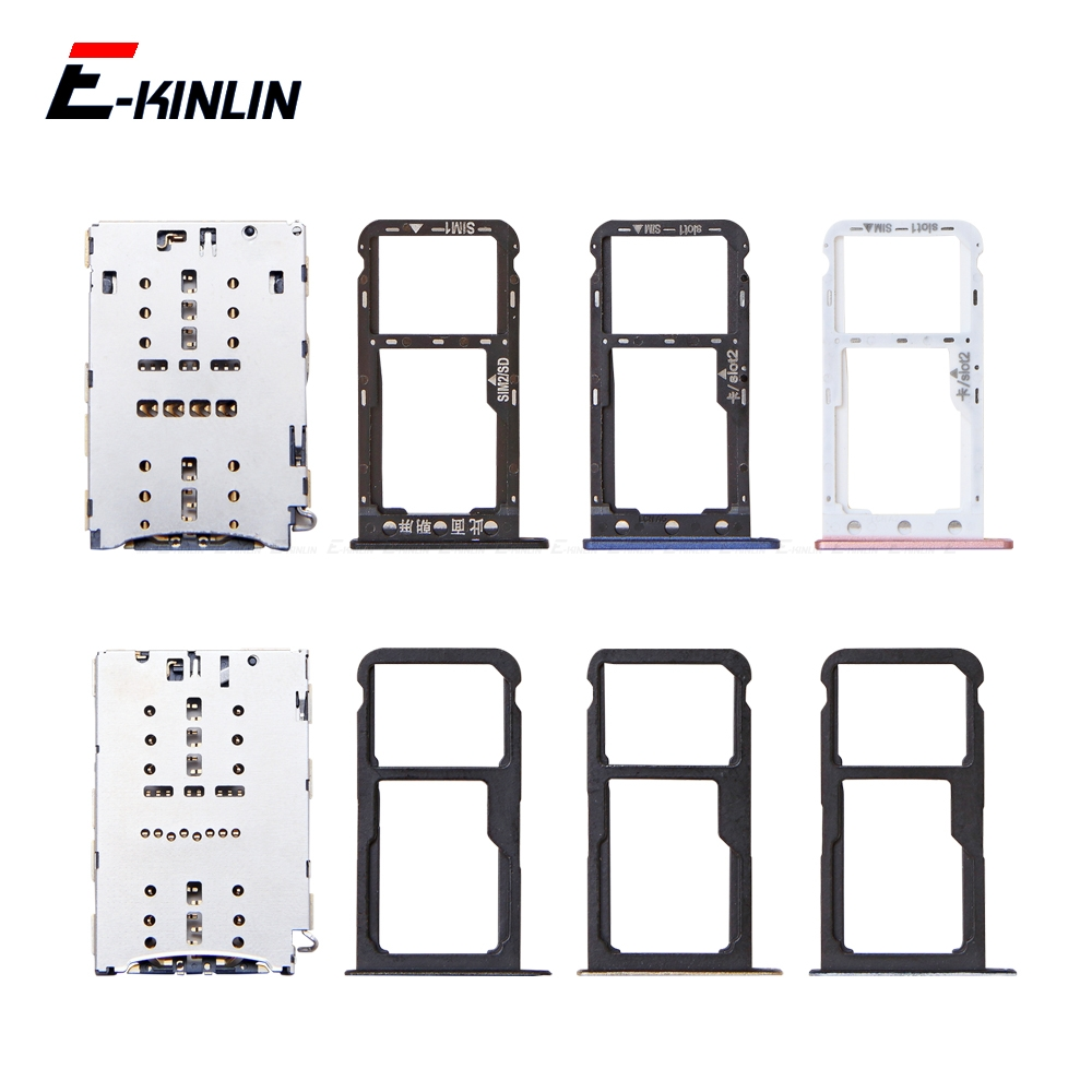 Sim Card / Micro SD Card Tray Socket Holder Slot Container Connector Adapter Reader Replacement Parts For HuaWei P9 Lite Mini