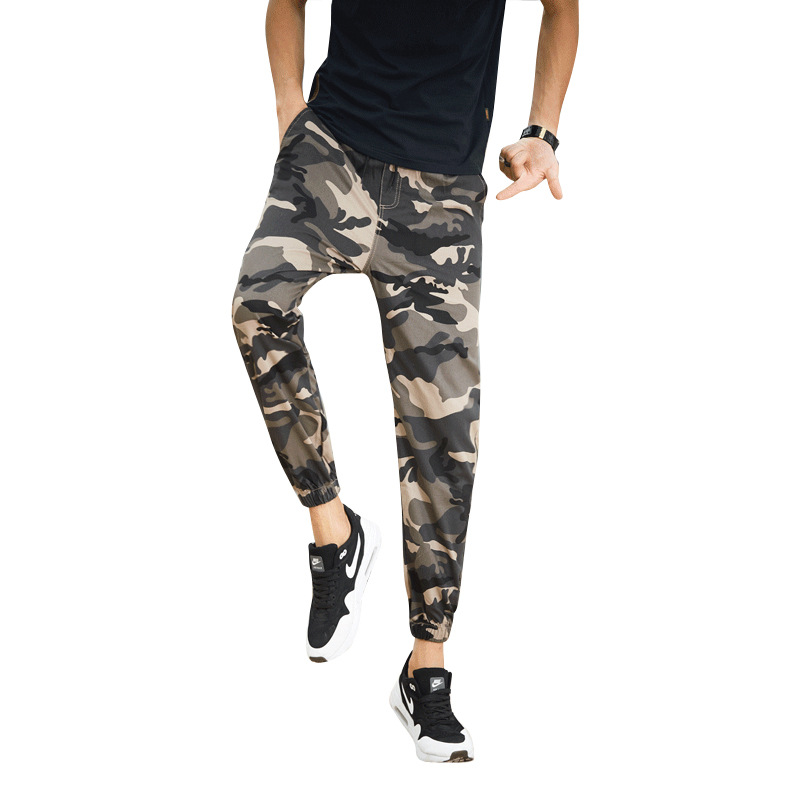 2018 Men's Camouflage Pants Capri Pants Skinny Pants Athletic Pants Beam Leg Casual Pants Summer Korean-style Slim Fit Trend