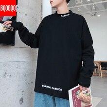 Turtleneck Casual T shirt Men Long Sleeve Spring Autumn Hip hop Fashion Fitness Tees Male Oversized Harajuku Streetwear T shirts