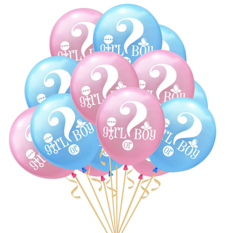 Gender Reveal Party Decorations Letter Foil Balloons Pink Blue Boy Or Girl Latex Ballon Baby Shower Birthday Supplies