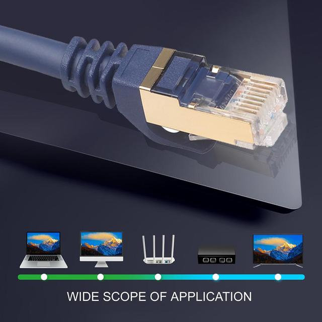 Ethernet Cable Cat8 Lan Cable RJ45 Network Cat 5 Router Internet Patch Cord for Computer 1m/3m /10m/15m/20m/25m/30m Lan Cable 2