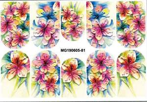 Nail-Sticker Two Dull Flower Polish Fresh Day Relief-Hand-Painted of Varved Small Stereo
