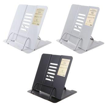Soporte portátil ajustable de Metal para lectura, soporte de libro, estantería para documentos, 1 unidad