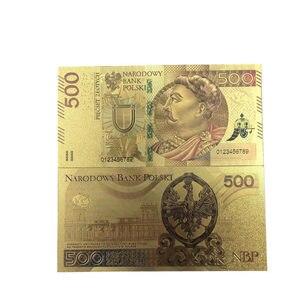 100 шт Золотая банкнота чистая банкнота из золотой фольги польская сувенирная банкнота домашний декор ценная коллекция банкнот