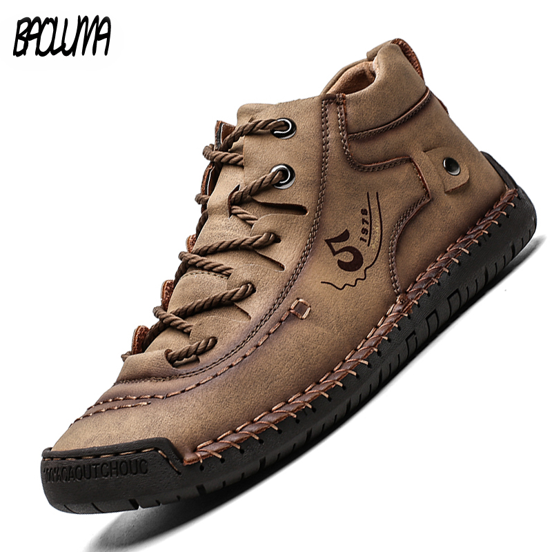 New Men's Casual Shoes Summer Breathable Leather Shoes Men's Classic Men Handmade Men Footwear Big Size Mocassin 38-48