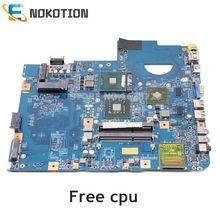 NOKOTION JV50 MV 48.4CG08.011 Laptop Motherboard For Acer aspire 5738 MBPRL01001 MB.PRL01.001 GM45 DDR3 HD4500 GPU Free CPU
