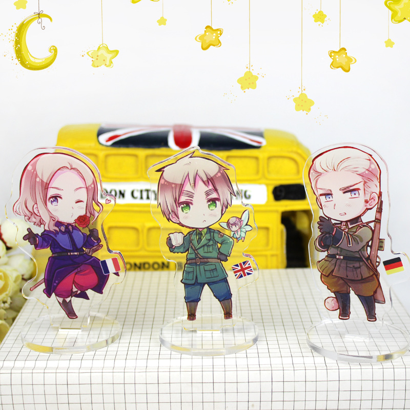 Anime APH Small Stand Plate Acrylic Cartoon Figure Axis Power Hetalia Stand Holder Model Christmas Days Gift