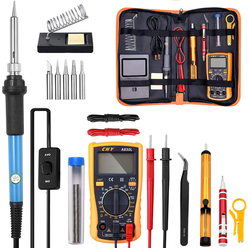 Adjustable Temperature Electric Soldering Iron kit 220V 110V 60W Welding Solder Rework Station Heat Pencil Repair Tools