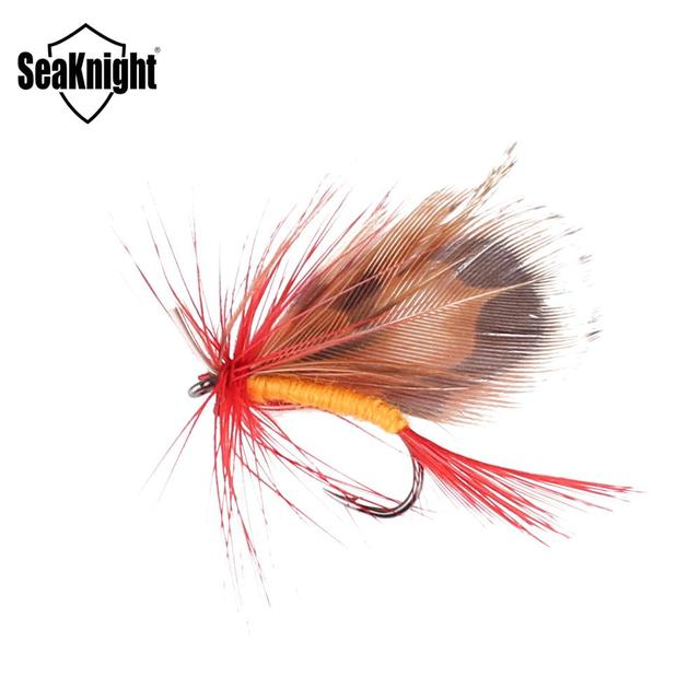 SeaKnight 24Pcs Butterfly Fly Fishing Bait with Wings Hooks Dry Fly Fishing Bait Fishing Accessories for Fly Fishing